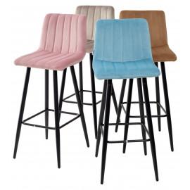 Барный стул DERRY G108-56 пудровый синий, велюр М-City