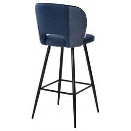 Барный стул HADES TRF-06 полночный синий, ткань/ RU-03 синяя сталь, PU М-City