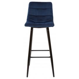 Барный стул LECCO UF910-18 NAVY BLUE, велюр М-City