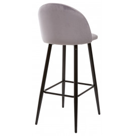 Барный стул MALIBU серый, велюр G108-51 М-City