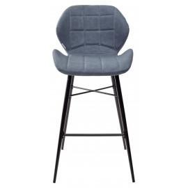 Барный стул MARCEL RU-03 синяя сталь, экокожа М-City