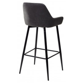 Барный стул PUNCH светло-серый меланж FC-01/ экокожа антрацит RU-08 М-City