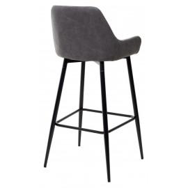 Барный стул PUNCH теплый серый TRF-08/ экокожа серая сталь RU-07 М-City