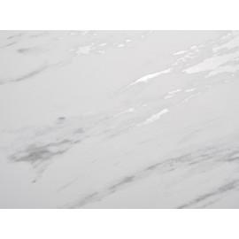Стол CREMONA 160 KL-99 Белый мрамор матовый, итальянская керамика / черный каркас М-City