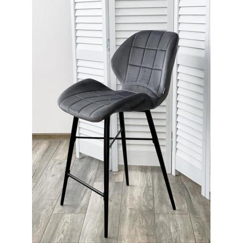 Полубарный стул MARCEL BLUVEL-14 GREY (H=65cm), велюр М-City