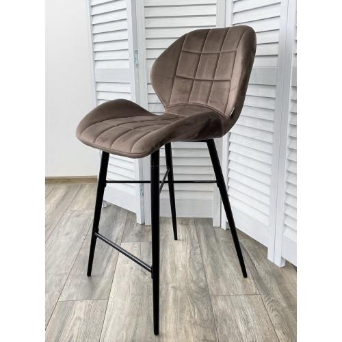 Полубарный стул MARCEL BLUVEL-38 LATTE (H=65cm), велюр М-City