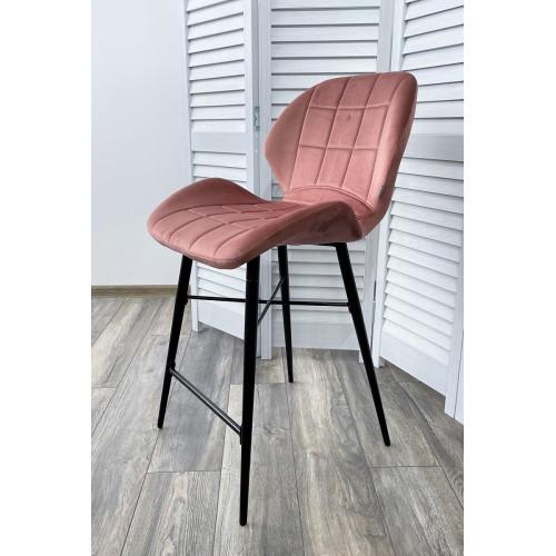 Полубарный стул MARCEL BLUVEL-52 PINK (H=65cm), велюр М-City