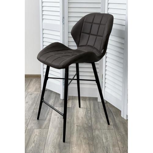 Полубарный стул MARCEL COWBOY-#104 темно-серый (H=65cm), ткань микрофибра М-City