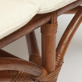 Комплект для отдыха SONOMA ( стол круглый (со стеклом)+2 кресла+диван ) /с подушками/
