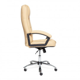Кресло СН9944 Хром, кож/зам, бежевый, 36-34