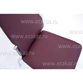 F68-8 Стул хром, кож/зам, 420х520х450х970, бордо