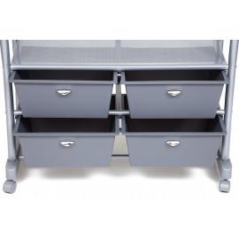 Вешалка NY-3297 металл, 76-130*43*109-165см, хром/серый