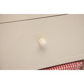 Тумба 4340 с ящиком белый, ткань BC 078