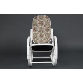 Кресло-качалка RC-8001 дерево, 54*47*96,5см, Butter White,Гобелен(бежевый с цветочным рисунком)