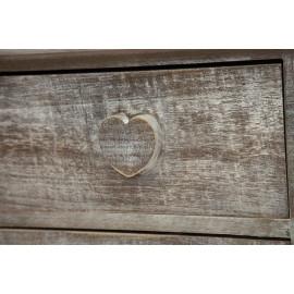 Комод с 5 ящиками  Secret De Maison AMOUR ( mod. HX16-004NS ) paulownia, мдф, 74x38x74см, Натуральный Антик