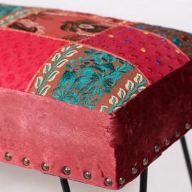 Банкетка Secret De Maison AGRA (mod. 10205) cotton/металл, 72х36х49см, этнический красный/черный