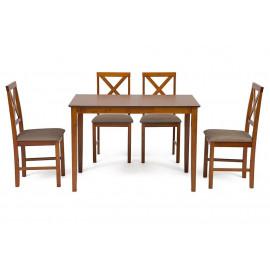 Обеденный комплект  эконом Хадсон (стол + 4 стула) espresso