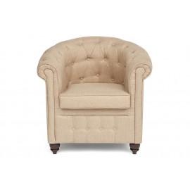 Кресло Secret De Maison London (Лондон) 5094.11 дерево гевея, ткань: полиэстер/хлопок, 86х73,5х82см, Cappuchino , бежевый