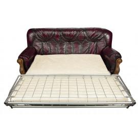 Диван Oakman 3 bed натур. кожа, бордо, # 10