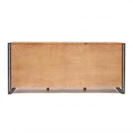 Комод Secret De Maison CITY ( mod. CTY D01ABOIS2-180 ) металл/дерево акация, 180х45х80см, коричневый дым (smoke brown B034)