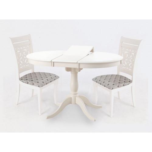 Обеденная группа  SIENA D90+4 стула ivory white